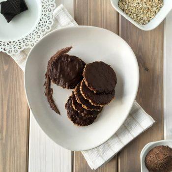 Chocolate Hobnobs – Sugar Free, Gluten Free, Dairy Free & Vegan